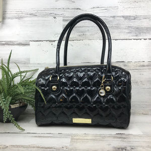 Betsey Johnson Black Patent Satchel Bag [490]